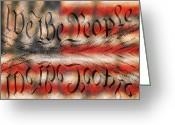 We The People Greeting Cards - We the People Greeting Card by Day Williams