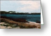 Grayton Beach Greeting Cards - Western Lake Greeting Card by Racquel Morgan