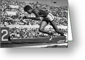 Athlete Greeting Cards - Wilma Rudolph (1940-1994) Greeting Card by Granger
