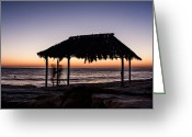 Wind Surfing Art Greeting Cards - Windansea Beach Hut One Greeting Card by Josh Whalen