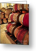 Hoops Greeting Cards - Wine barrels Greeting Card by Elena Elisseeva