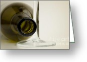 Laying Down Greeting Cards - Wine bottle Greeting Card by Blink Images