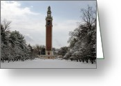 Winter Storm Greeting Cards - Winter at the Carillon Greeting Card by Kelvin Booker