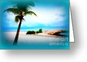 Smathers Beach Greeting Cards - Wish You Were Here Greeting Card by Susanne Van Hulst