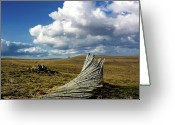 Barren Greeting Cards - Wooden posts Greeting Card by Bernard Jaubert