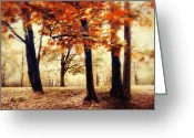 Fall Whimsical Digital Art Greeting Cards - Woodland Wonder Greeting Card by Jessica Jenney