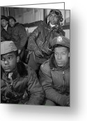 Jimmie Greeting Cards - Wwii: Tuskegee Airmen, 1945 Greeting Card by Granger