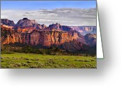 Cave Greeting Cards - Zion National Park Utah Greeting Card by Utah Images
