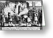 1555 Greeting Cards - Foxe: Book Of Martyrs Greeting Card by Granger