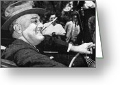 Cigarette Holder Greeting Cards - Franklin Delano Roosevelt Greeting Card by Granger
