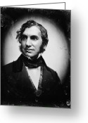 Daguerreotype Greeting Cards - Henry Wadsworth Longfellow Greeting Card by Granger