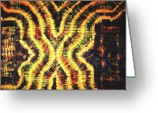 Wall Art Tapestries - Textiles Greeting Cards - 20 Greeting Card by Mildred Thibodeaux