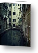 Thriller Greeting Cards - Venezia Greeting Card by Joana Kruse