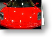 Red Ferrari Greeting Cards - 2006 Ferrari F430 Spider . 7D9383 Greeting Card by Wingsdomain Art and Photography