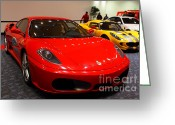 Red Ferrari Greeting Cards - 2006 Ferrari F430 Spider . 7D9413 Greeting Card by Wingsdomain Art and Photography