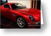 2008 Greeting Cards - 2008 Alfa Romeo 8C Competizione - 7D17230 Greeting Card by Wingsdomain Art and Photography