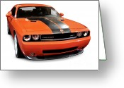Red Sportscar Greeting Cards - 2008 Dodge Challenger SRT Muscle Car Greeting Card by Oleksiy Maksymenko