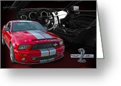 2008 Greeting Cards - 2008 Shelby Cobra Mustang - 40th Anniversary Greeting Card by Roger Beltz