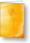 Lady Jewelry Greeting Cards - 2009 Figure Study 6 Greeting Card by Carol Rashawnna Williams