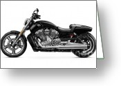 V Twin Greeting Cards - 2010 Harley-Davidson VRSC V-Rod Muscle Greeting Card by Oleksiy Maksymenko