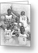 Cousins Greeting Cards - 2010 NBA Draft Greeting Card by Tanya Crum
