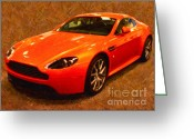 Transportation Digital Art Greeting Cards - 2012 Aston Martin DB9 Greeting Card by Wingsdomain Art and Photography