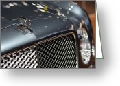 Creme Greeting Cards - 2012 Bentley Mulsanne Hood Ornament Greeting Card by Gordon Dean II