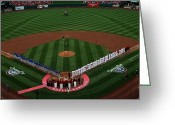 Cardinals World Series Greeting Cards - 2012 Cardinals Opening Day Greeting Card by Barbara Plattenburg