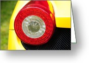 Brake Greeting Cards - 2012 Ferrari 458 Spider Brake Light Greeting Card by Paul Ward