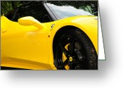 Sports Art Photo Greeting Cards - 2012 Ferrari 458 Spider  Greeting Card by Paul Ward