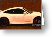 Transportation Digital Art Greeting Cards - 2012 Porsche 911 Carrera GTS Greeting Card by Wingsdomain Art and Photography