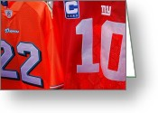 Eli Manning Greeting Cards - 22 10 Greeting Card by Rob Hans