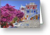 Sea Flowers Greeting Cards - Mykonos Greeting Card by Joana Kruse