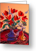 Leaned Greeting Cards Greeting Cards - Tulips Greeting Card by Mark Kazav