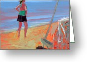 South Carolina Beach Painting Greeting Cards - RCNpaintings.com Greeting Card by Chris N Rohrbach