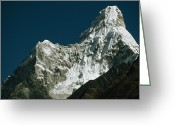 Ama Greeting Cards - 22,349 Foot Ama Dablam, Which Means Greeting Card by Gordon Wiltsie