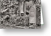 Mail Box Photo Greeting Cards - 22747 Bw Greeting Card by JC Findley