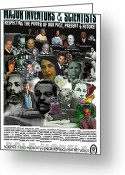 Barack Obama Mixed Media Greeting Cards - Major Inventors and Scientists Greeting Card by Purpose Publishing
