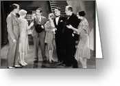 Bowtie Greeting Cards - Silent Film Still Greeting Card by Granger