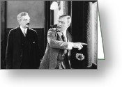 Smoker Greeting Cards - Silent Still: Two Men Greeting Card by Granger