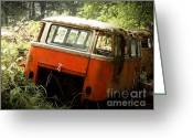 Deluxe Greeting Cards - 23 Window Buses in Repose Greeting Card by Michael David Sorensen