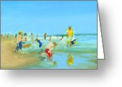 Sandcastle Greeting Cards - RCNpaintings.com Greeting Card by Chris N Rohrbach