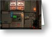 Parking Greeting Cards - 24 Hour ATM Greeting Card by Bob Orsillo