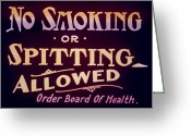 Smoker Greeting Cards - Intermission Slide Greeting Card by Granger