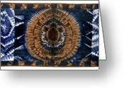 Wall Art Tapestries - Textiles Greeting Cards - 24 Greeting Card by Mildred Thibodeaux