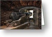 Peter French Greeting Cards - 24 Pounder Cannon Greeting Card by Peter Chilelli