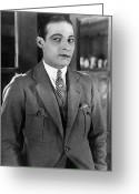 Movie Star Greeting Cards - Rudolph Valentino Greeting Card by Granger