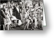 Whirl Of Life Greeting Cards - Silent Film Still: Parties Greeting Card by Granger