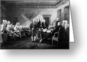 Philip Livingston Greeting Cards - Declaration Of Independence Greeting Card by Granger