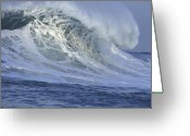 Wave Greeting Cards - 25 Feet on a Beautiful Morning Greeting Card by Stan and Anne Foster